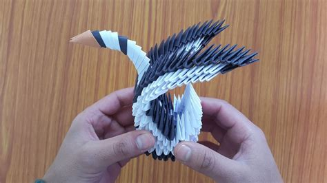 3d Origami Simple - how to make a beautiful 3d origami swan easy step by
