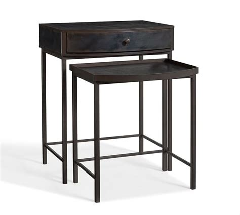 Nesting Tables Pottery Barn by Metal Bedside Tables Black Metal Stand Metal