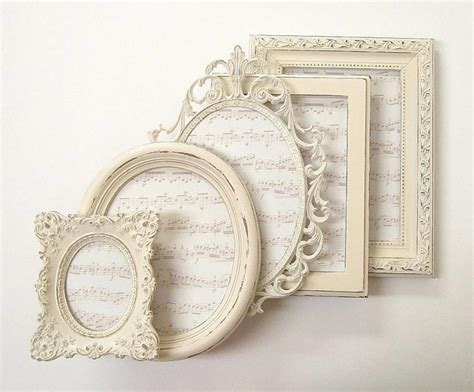 vintage shabby chic picture frames shabby chic frames picture frame set ornate frames ivory