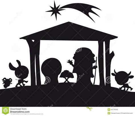 imagenes de siluetas del nacimiento de jesus ejemplo de la silueta de la natividad de la navidad