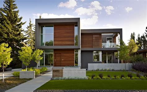 Modern Home Entry Sd House Contemporary Rendering Edmonton By