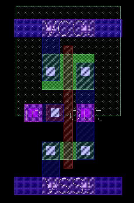 cmos inverter layout design cadence lab7 inverter layout and design rules