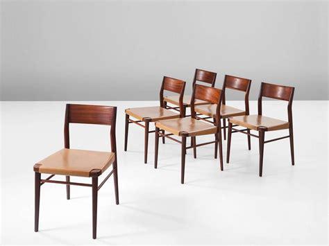set of six 1950s mahogany italian dining chairs at 1stdibs set of six italian dining chairs in mahogany and natural