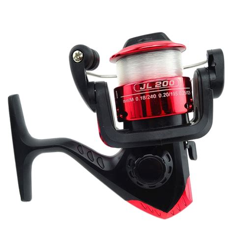 jl200 3bb two tone mini fishing spool spinning reel with 50m transparent line ebay
