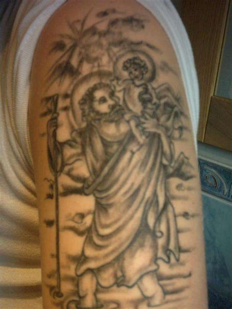 st christopher tattoo design 29 religious christopher tattoos