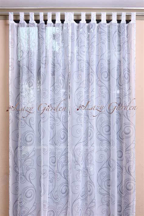 white patterned voile free shipping european style printed voile window