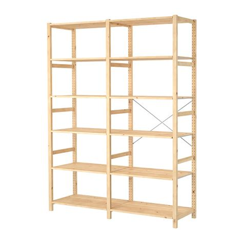 Ivar 2 Sections Shelves Ikea Ikea Wood Shelves