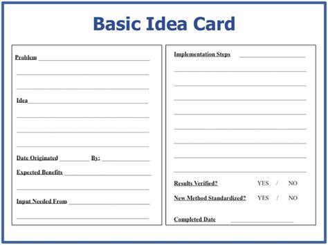 basic card basic idea card standardized card