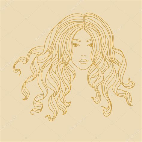 long hair stock photos royalty free images vectors vector portrait of a girl with long curly hair stock