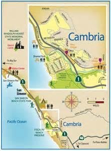 cambria california map cambria travel guide san luis obispo county visitors guide
