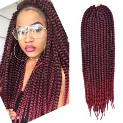 burgundy braiding hair 24 inch havana mambo twist crochet braid hair extensions