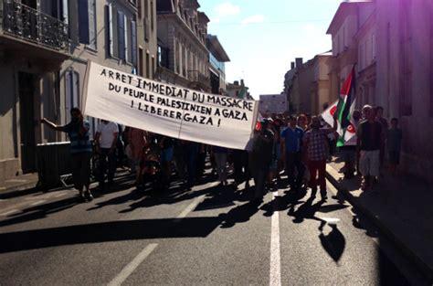 21 juillet 2014 mont de marsan pour la palestine mrap des landes