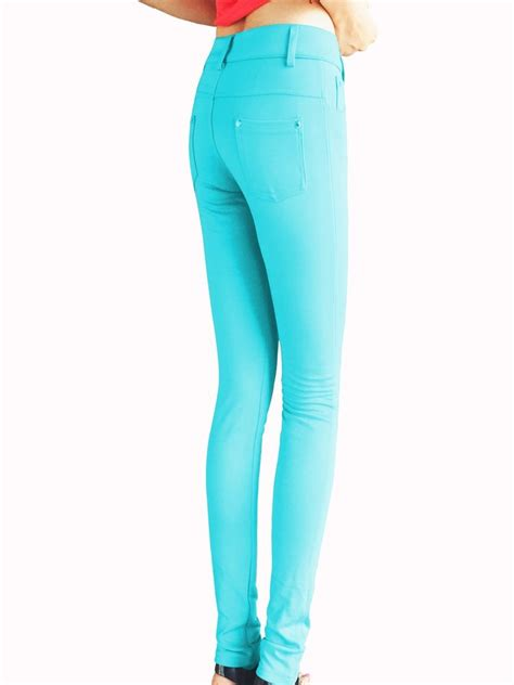 color jeggings solid color stretchy jeggings
