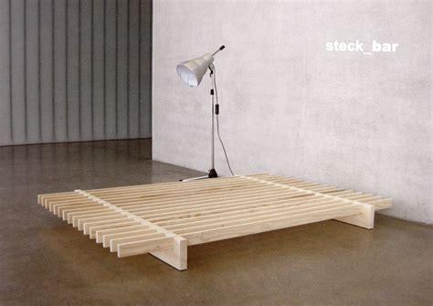 futonbett 140x200 massivholz kreative bettrahmen stecksysteme und betten zum selber