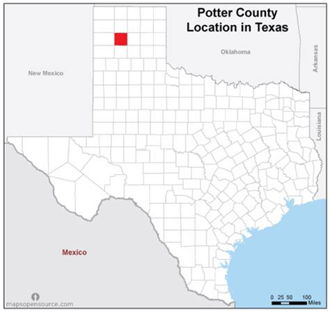 Potter County Search Free And Open Source Location Map Of Potter County Mapsopensource