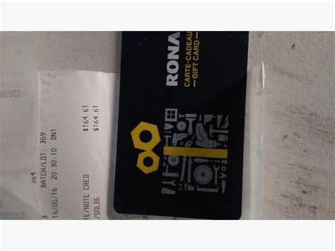 Rona Gift Card - 160 00 rona gift card victoria city victoria
