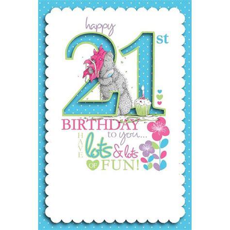 21st Birthday Card 21st Birthday Me To You Bear Cards Ebay