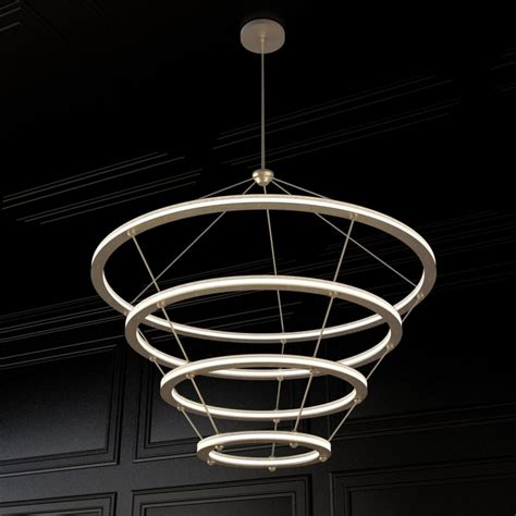 Halo Chandelier 3d Model Halo Chandelier Roll Hill