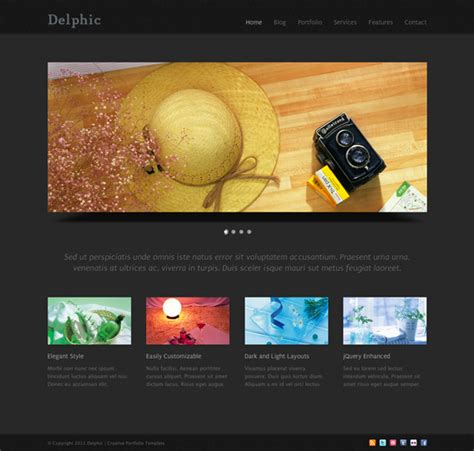 template of html delphic free html template