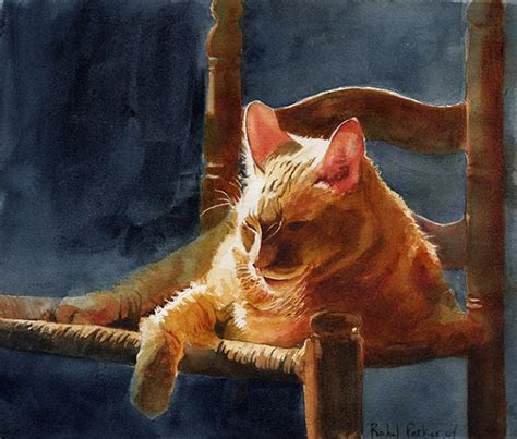 cat painting how to orange marmalade tabby cat print of my by rachelsstudio