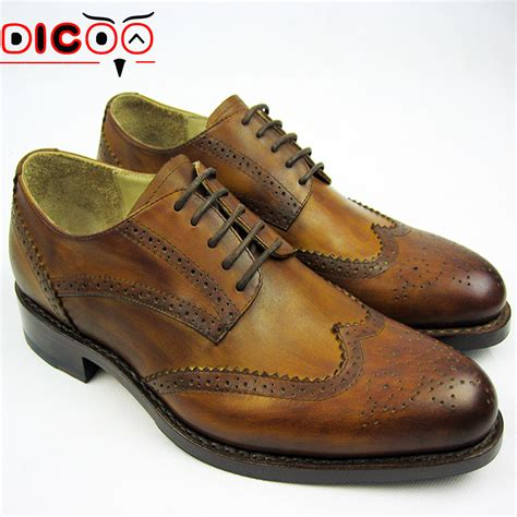 popular brown wingtip shoes for buy cheap brown