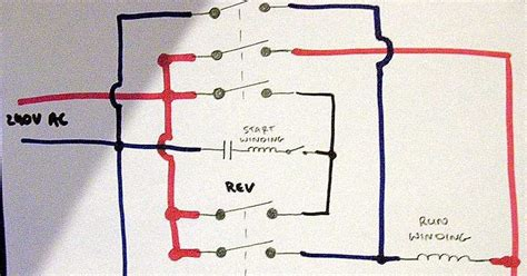 wiring diagram for reversing single phase motor