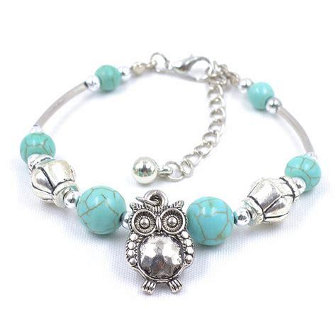 Jewellery Handmade - tibet handmade owl charm vintage bracelet