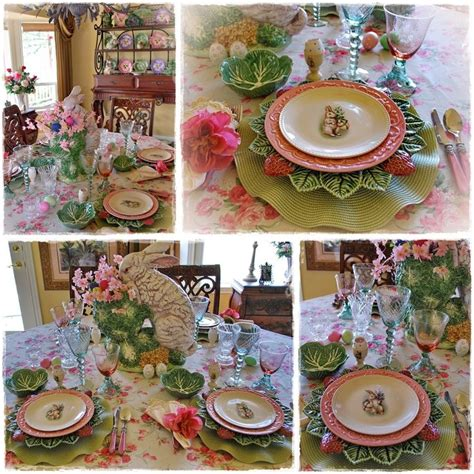 162 Best Images About Set The Easter Spring Table On Easter Dining Table Decorations