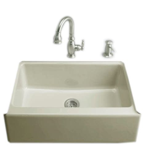 kohler farmhouse sink 33 kohler dickinson undermount farmhouse apron front cast