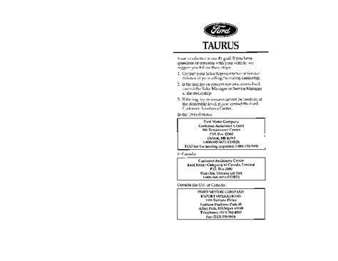 car owners manuals for sale 1996 ford taurus windshield wipe control 1996 ford taurus owners manual