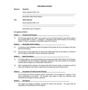 commission agreement template 12 free word pdf
