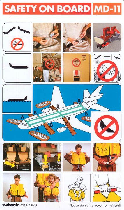 aircraft safety card template safety cards and the world on