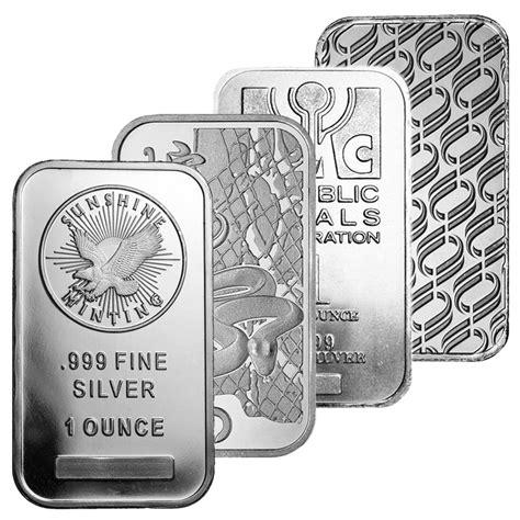 1 oz silver bar display 1 oz silver bar various designs 999 silver bullion