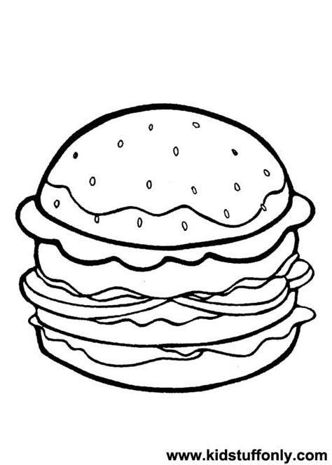 free drawings of hamburgers coloring pages