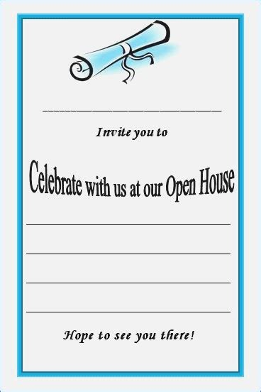 templates for graduation open house invitations graduation open house invitation templates graduation
