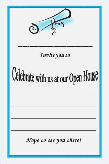 graduation open house invitation templates graduation open house invitation templates graduation