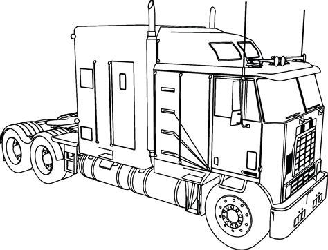 semi truck coloring pages semitrailer semi truck coloring page pages thanksgiving