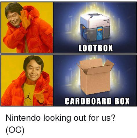 Cardboard Box Meme - is lootbox cardboard box air nintendo meme on me me