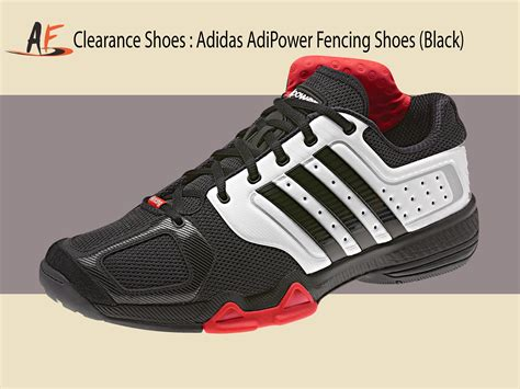 Adidas Adipower Fencing Shoes Black - clearance shoes adidas adipower fencing shoes black