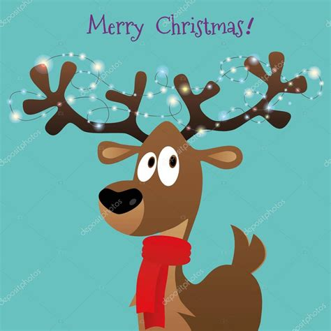 imagenes de navidad venados luces de feliz tarjeta de navidad con venados de dibujos