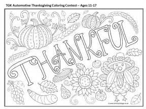 coloring contest tgk automotive 2016 thanksgiving coloring contest