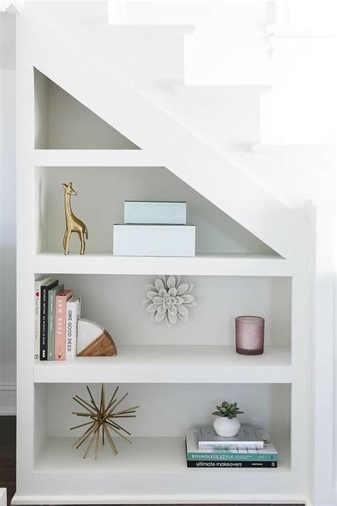 attractive Behind The Bed Wall Decor #4: built-in-shelving-under-loft-staircase.jpg