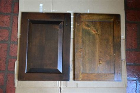 painting vs staining kitchen cabinets using polyshades to darken our wood cabinets stains the and wood cabinets
