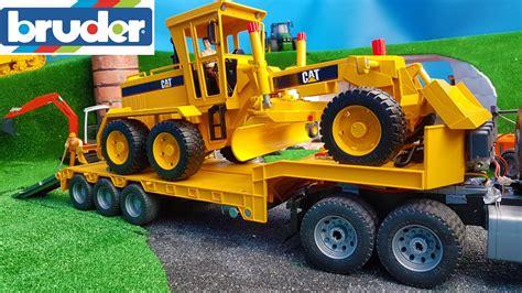 bruder toys bruder toys truck construction grader delivery