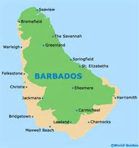 Barbados World Map by Barbados Tourism And Tourist Information Information