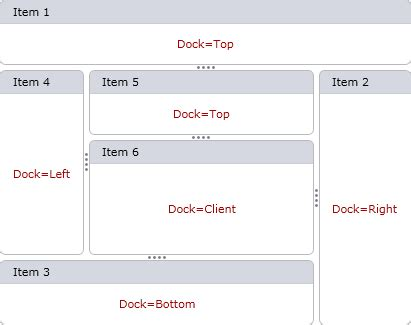 Dock Layout Manager Wpf | dock layout control layout management wpf controls