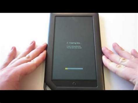 how to reset a nook color nook hd slate how to reset back to factory settings