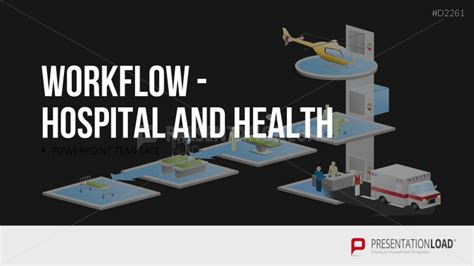 patient workflow in a hospital hospital workflow powerpoint template