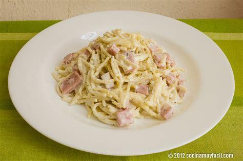 como se cocina la pasta espagueti a la crema con jam 243 n receta de navidad cocina