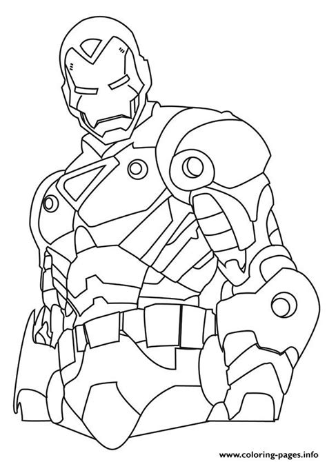 iron man  avengers marvel coloring pages printable